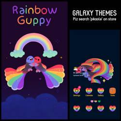 [free] Rainbow Guppy galaxy theme by pikaole