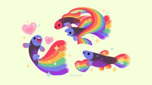 Rainbow Guppy wallpaper by pikaole
