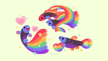 Rainbow Guppy wallpaper by pikaole