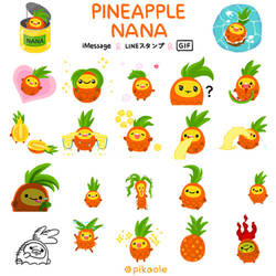 Pineapple NANA sticker pack