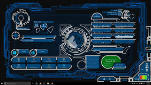 Rainmeter Futuristic/High tech UI theme