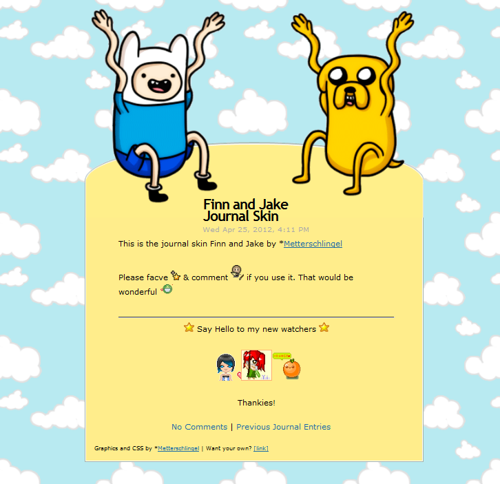 Finn and Jake Journal Skin ANIMATED by Metterschlingel