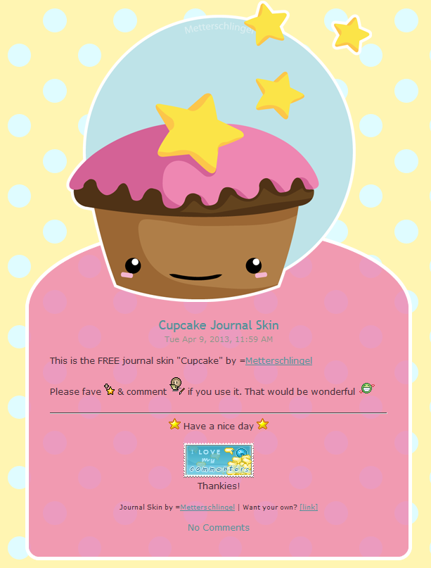 Free Cupcake Journal Skin by Metterschlingel