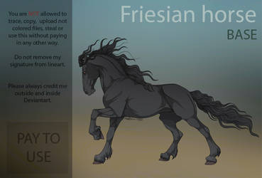 Friesian base  PAY TO USE  by HorRaw-X