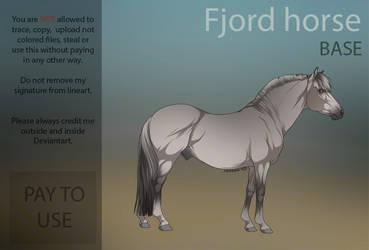 Fjord horse  P2U Base  by HorRaw-X