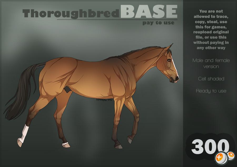 Thoroughbred |P2U Base| by HorRaw-X