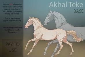 Akhal Teke Base by HorRaw-X