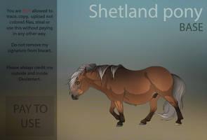 Shetland Pony Base  PAY TO USE  by HorRaw-X