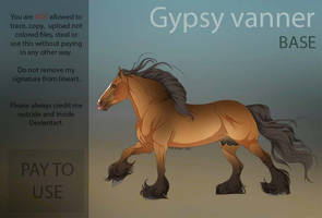 Gypsy Vanner  PAY TO USE Base  by HorRaw-X