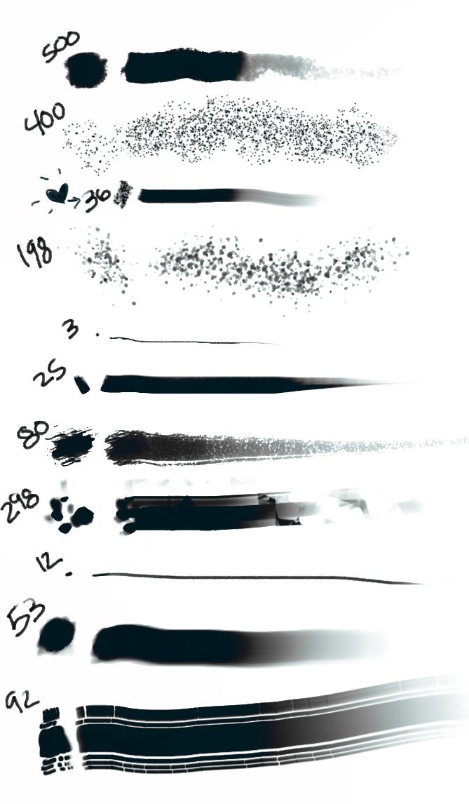 Pheebs brushes by Pheberoni