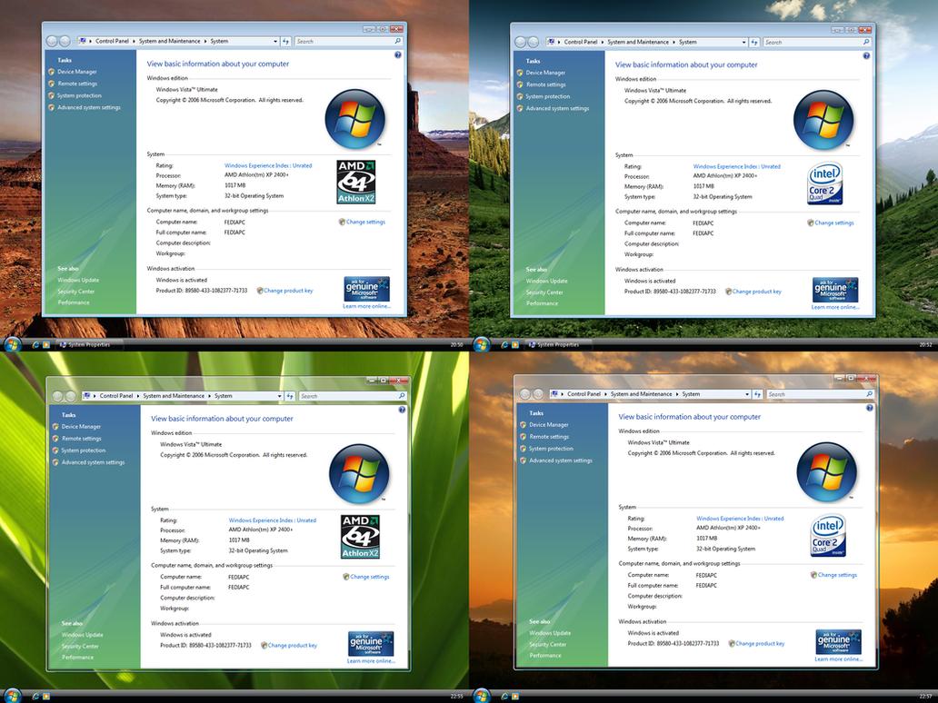 Xp Tourne Au Ralenti Vista System Properties For Xp By Fediafedia