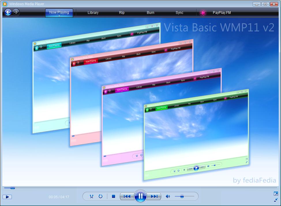 WMP11 Vista Basic v2 by fediaFedia