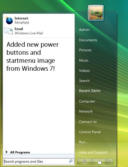 Windows 7 M3 for vistart by fediaFedia