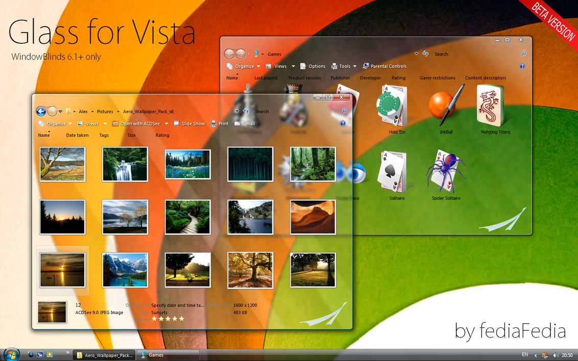 Glass for Vista WB by fediaFedia