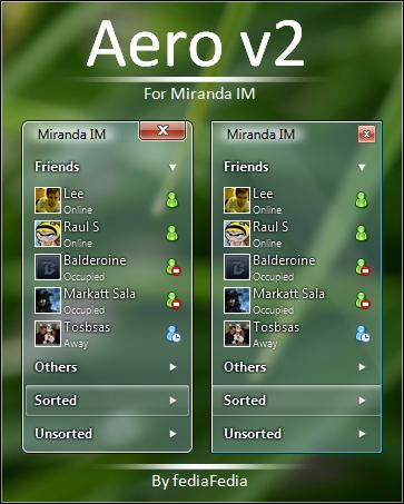Aero v2 skin for miranda by fediaFedia