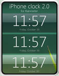 iPhone clock 2.0 for Rainmeter