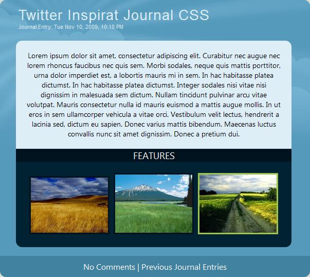 Twitter Inspirat CSS BETA by fediaFedia