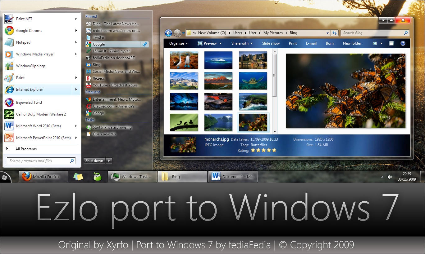 Ezlo port to Windows 7 by fediaFedia