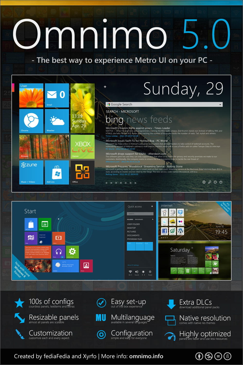 Omnimo for rainmeter skinpack customize your digital world for Bureau windows 7 rainmeter