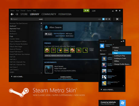 Steam Metro skin BETA 8 - UPDATE