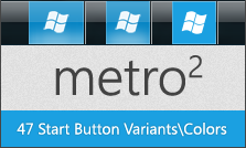 Metro Squared 7 Start Buttons by fediaFedia
