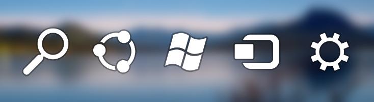 Windows 8 Charm bar icons by fediaFedia
