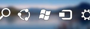 Windows 8 Charm bar icons