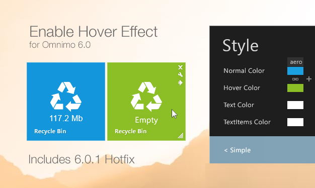 Enable Hover Effect in Omnimo 6