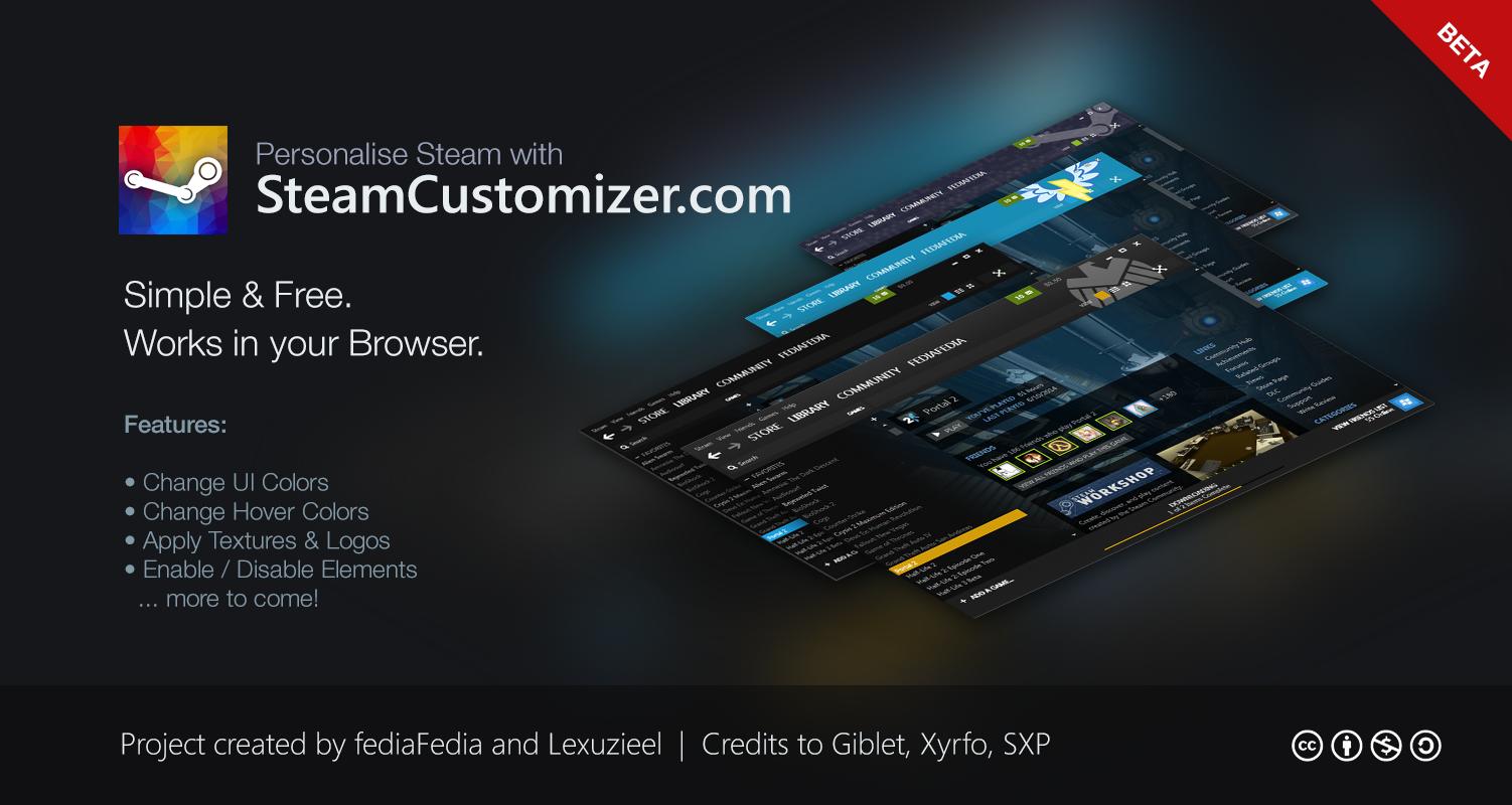 SteamCustomizer.com - Beta 1 by fediaFedia
