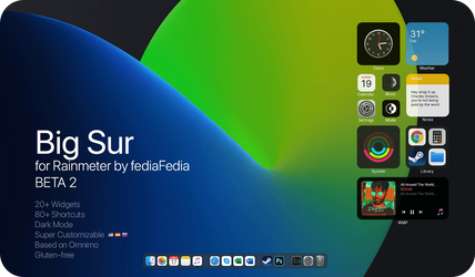 Big Sur BETA 2 for Rainmeter by fediaFedia