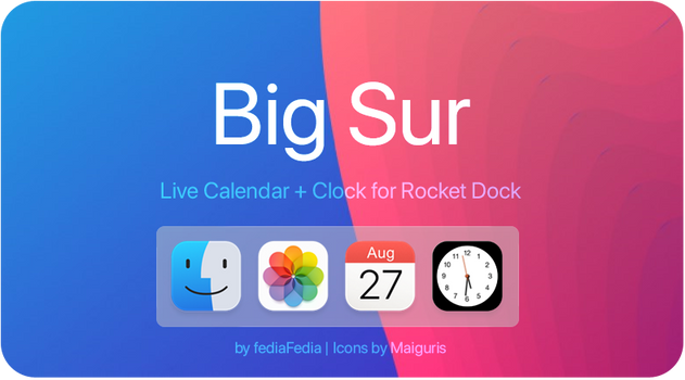 Live Calendar + Clock for RocketDock