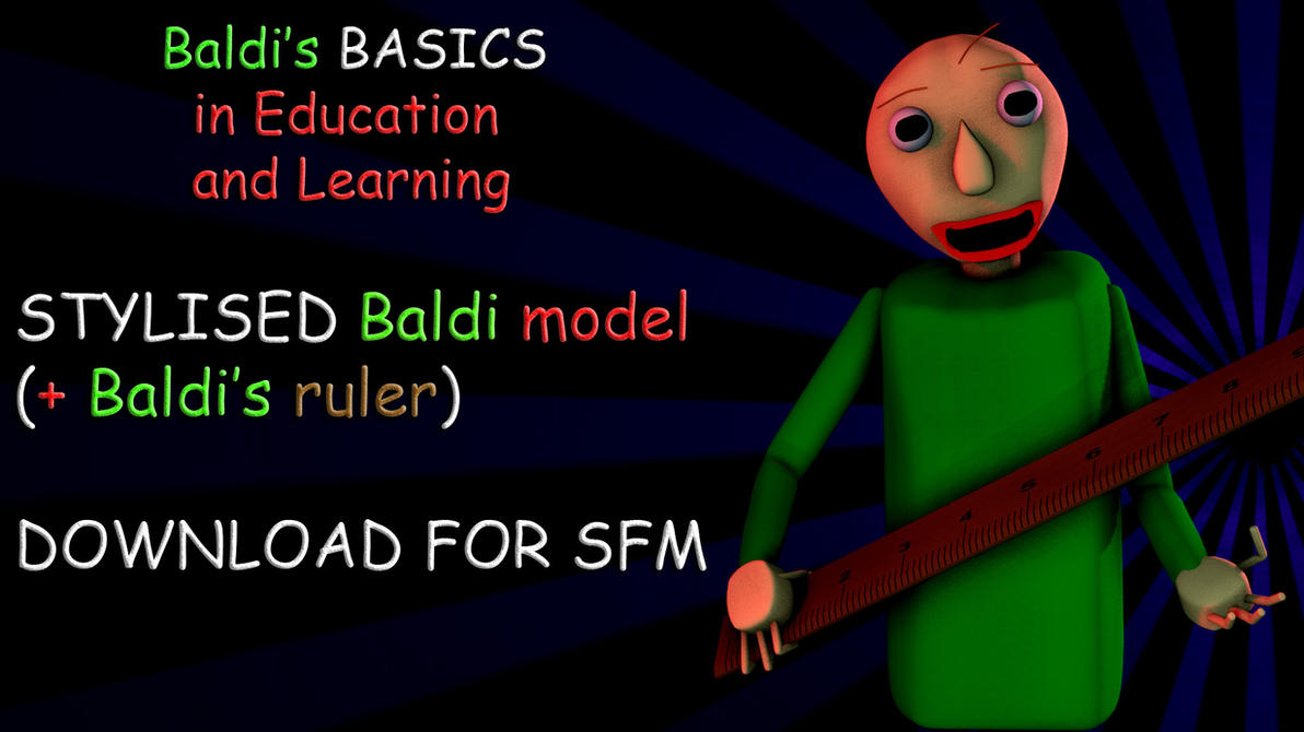 stylised baldi baldi s ruler sfm release by angrygal on deviantart