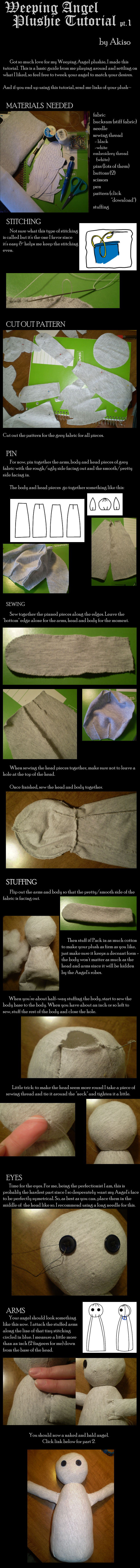 Weeping Angel Plushie Tutorial part 1 by Akiso