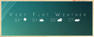 Very Flat Weather - RainMeter