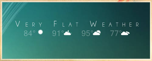 Very Flat Weather - RainMeter by SacrificialS