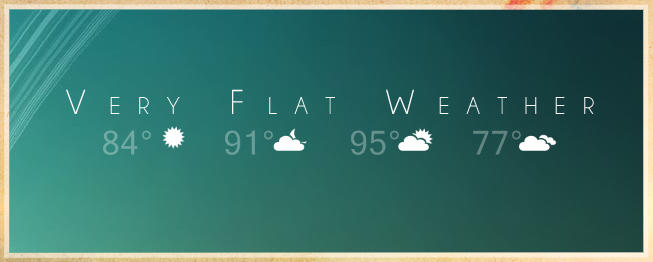 Very Flat Weather - RainMeter