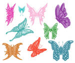 9 Butterfly brushes