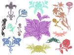 15 Flower brushes