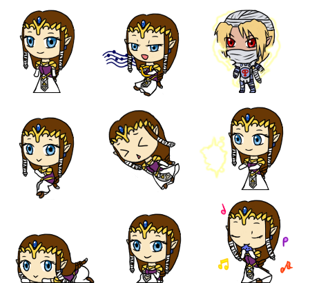 Princess Zelda Shimeji by ev1lmunchk1n