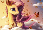 Pony portrait: Fluttershy.
