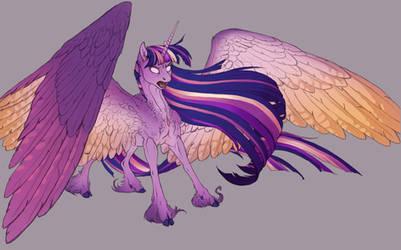 Angry Rainbow Purple Bookhorse.
