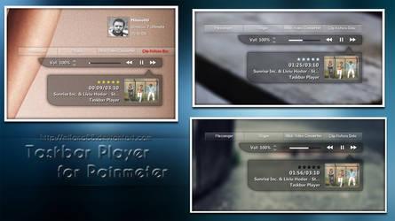 Taskbar Player for Rainmeter by milano88
