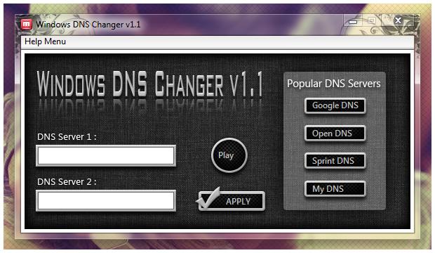DNS Changer v1.1
