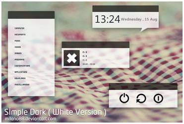 Simple Dark ( White Version )