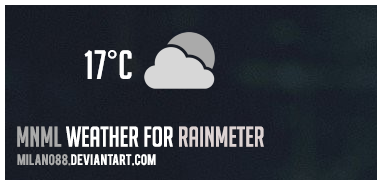 mnml Weather for Rainmeter by milano88