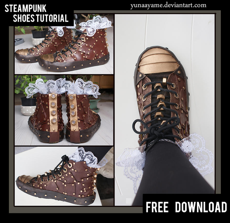 Steampunk  shoes DIY / Tutorial by yunaayame