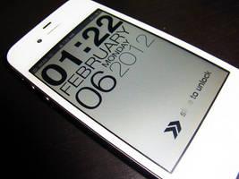 iPhone 4s Typophone Back in White by twAndodo