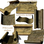 Pirate Map Stock