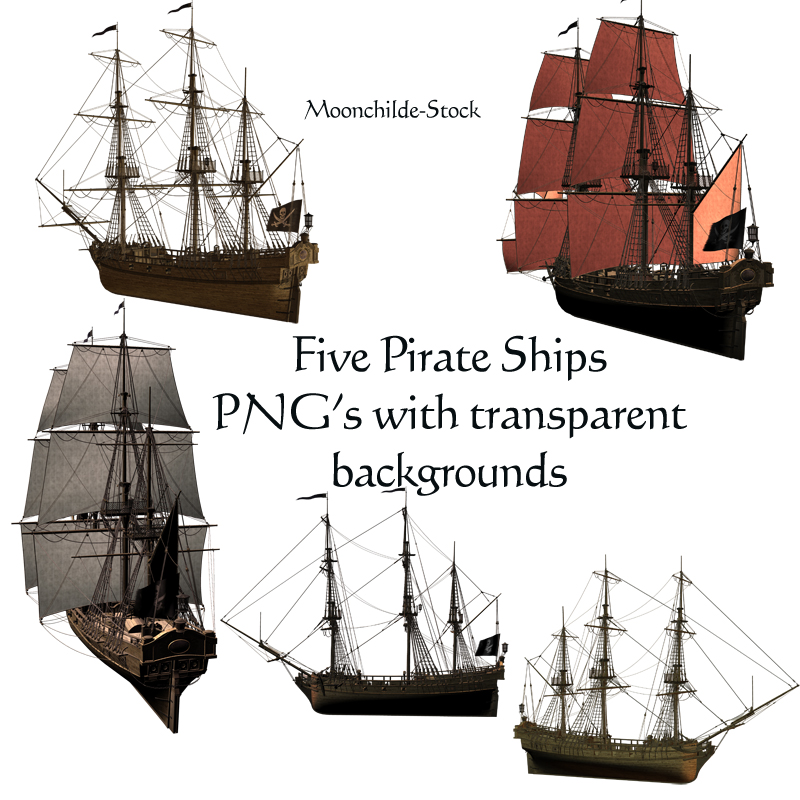 Pirate Ships II Stock by Moonchilde-Stock