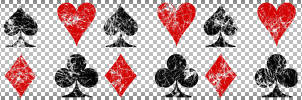 Grunge Playing Card Suits